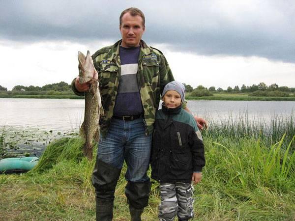 С лучшим другом - сыном Виктором